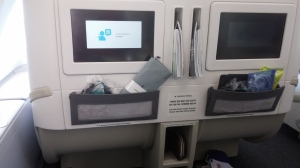 KE business-class seat on A380