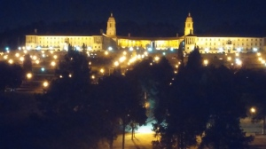 Night view of parliament Union building from my balcony