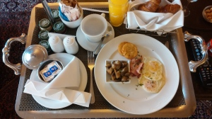 Free room service breakfast at Sheraton Pretoria Hotel