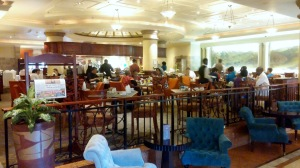 Lobby breakfast buffet