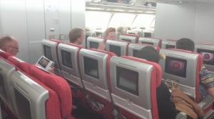 A340-600 economy seats