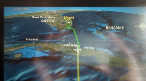 Flight path over Cuba