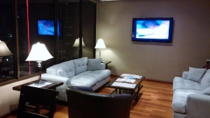 Lounge TV and reading area