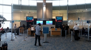 Departure gate at CLT