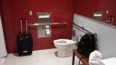 I sometimes use a shower room just for a quiet place to use the bathroom