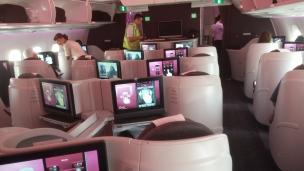 Qatar A350-900 business-class cabin