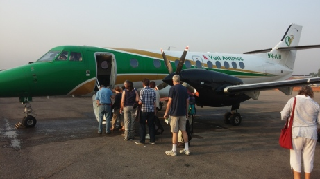 Boarding Yeti Airlines Jetstream 41