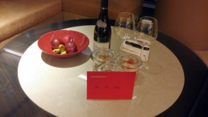 Welcome note and gifts in the Grand Executive Suite