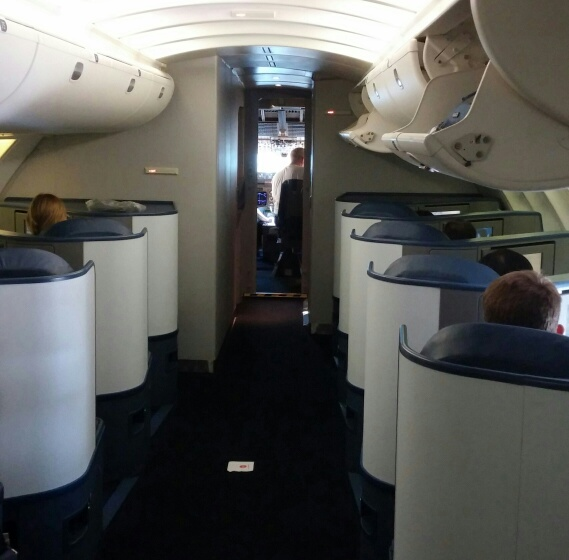 Delta One 747-400 Upper Deck, Shanghai, People's Republic of
