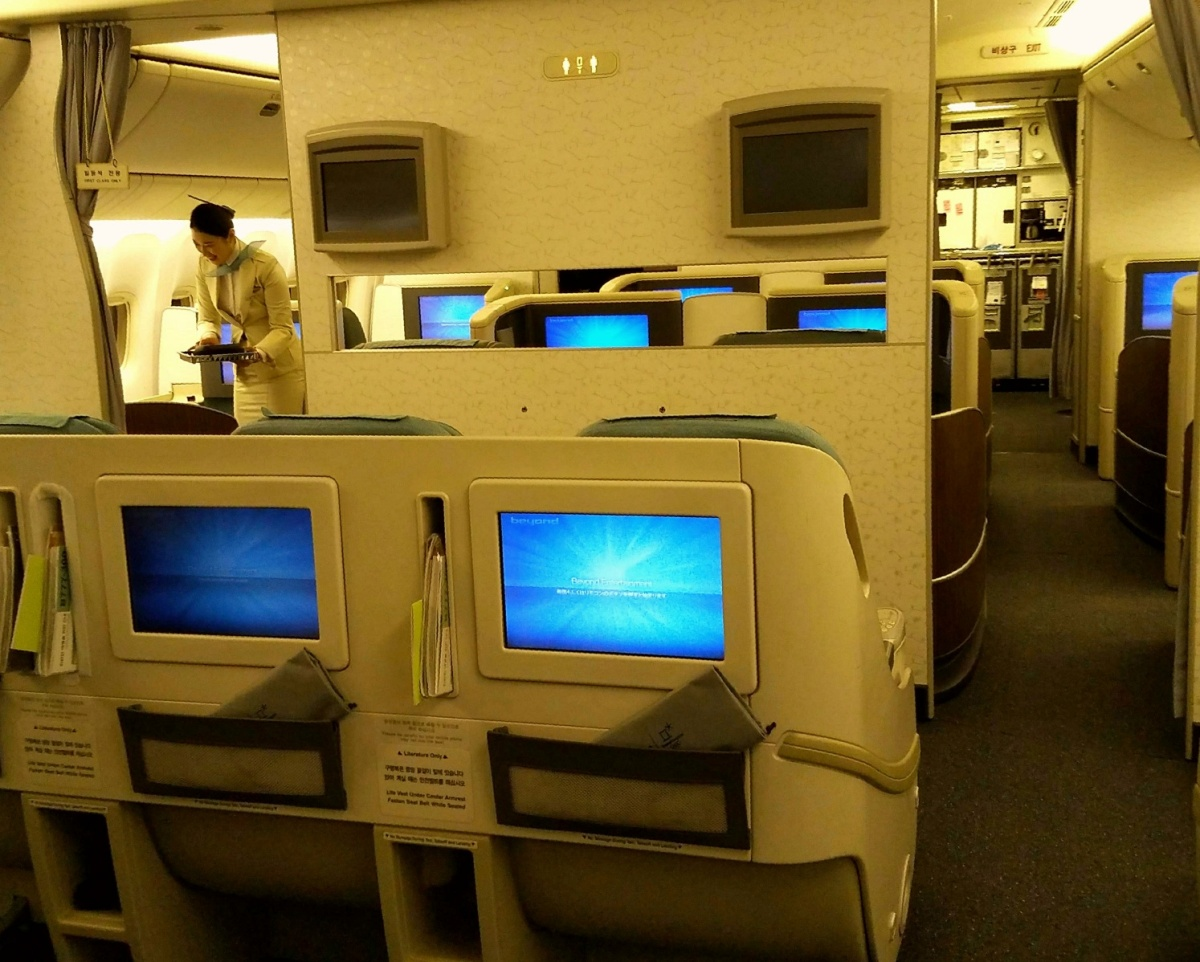 Korean Air 777 300er Business Class Bangkok Thailand Bkk
