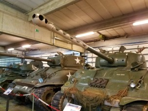 British Firefly tank. A Sherman tank fitted with a 76mm gun.
