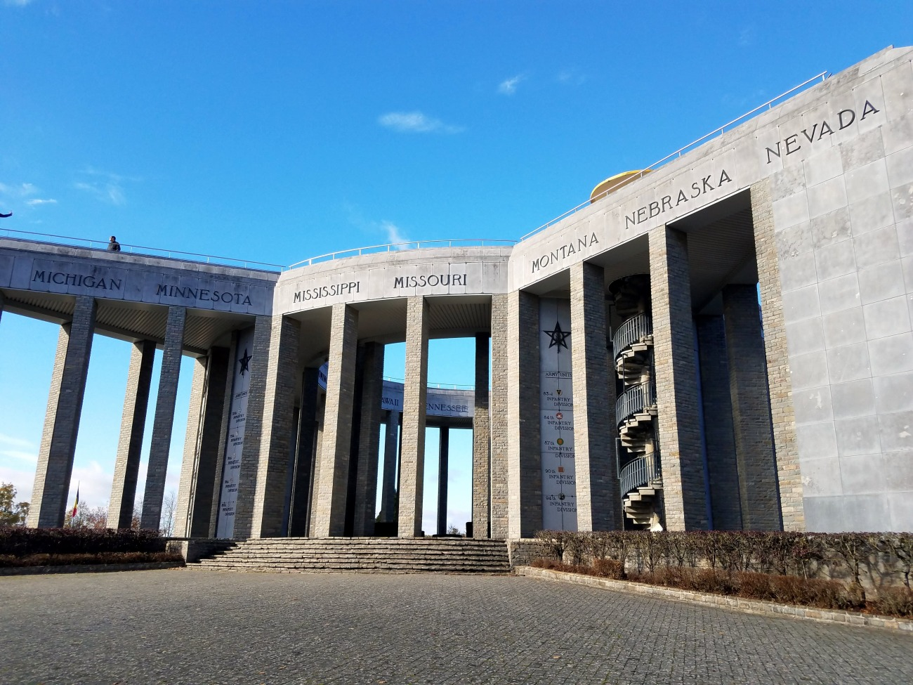 The Battle of the Bulge tour takes in the Mardasson Memorial