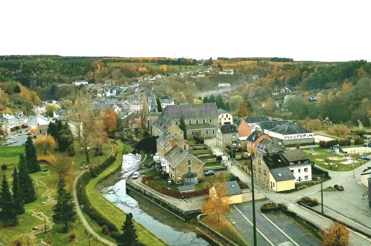 Houffalize town was bombed by the Allies in World War Two