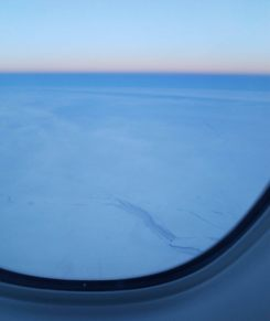 Leads in the sea ice near the North Pole. Airline pilots may be able to attest to changes in the sea ice in the Arctic.