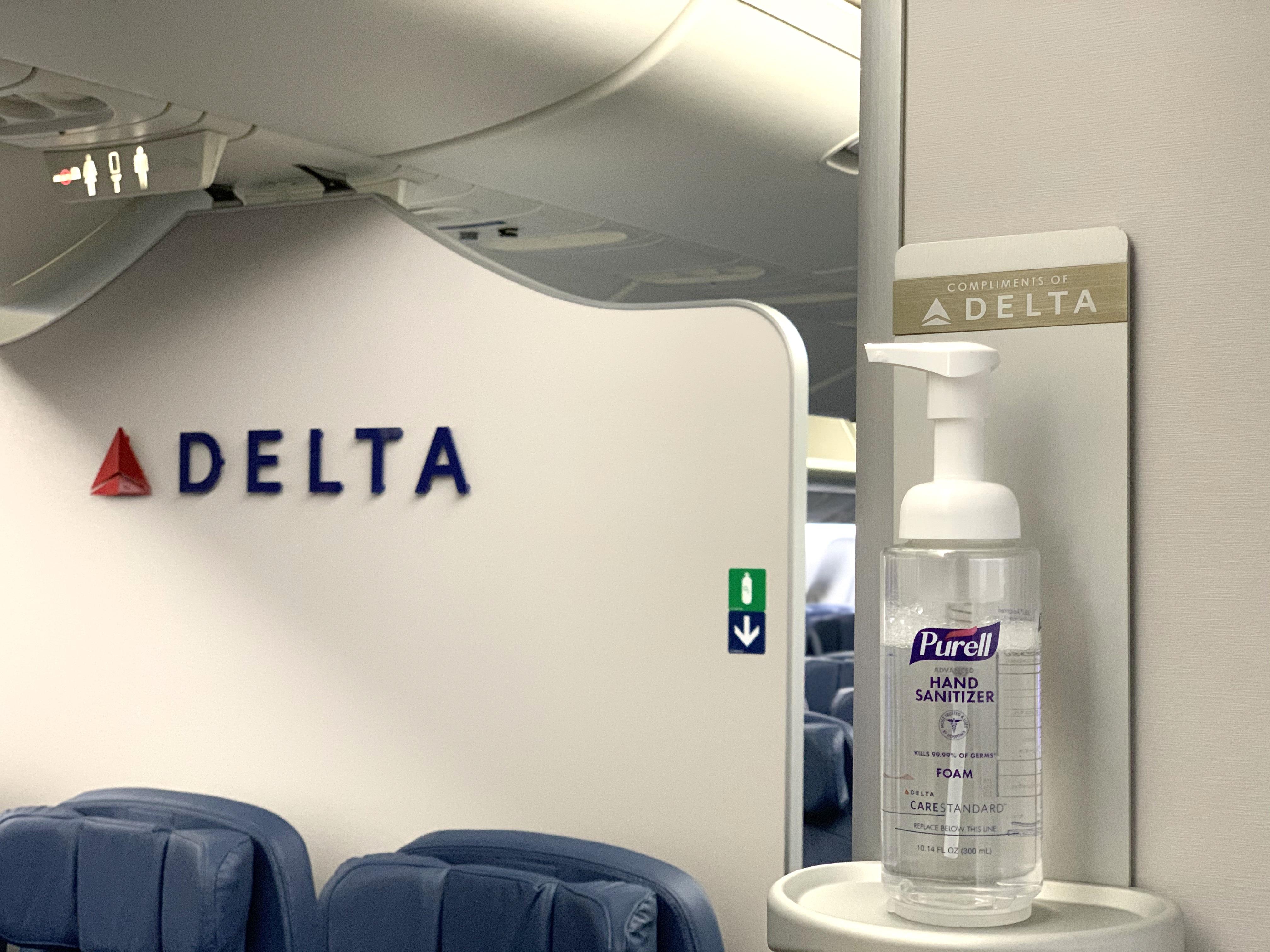 Hand sanitizer on board