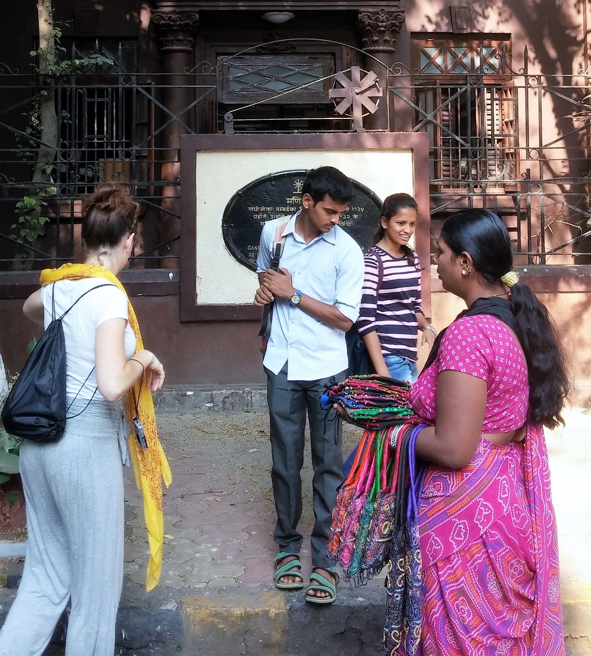 Guides at Gandhi's house