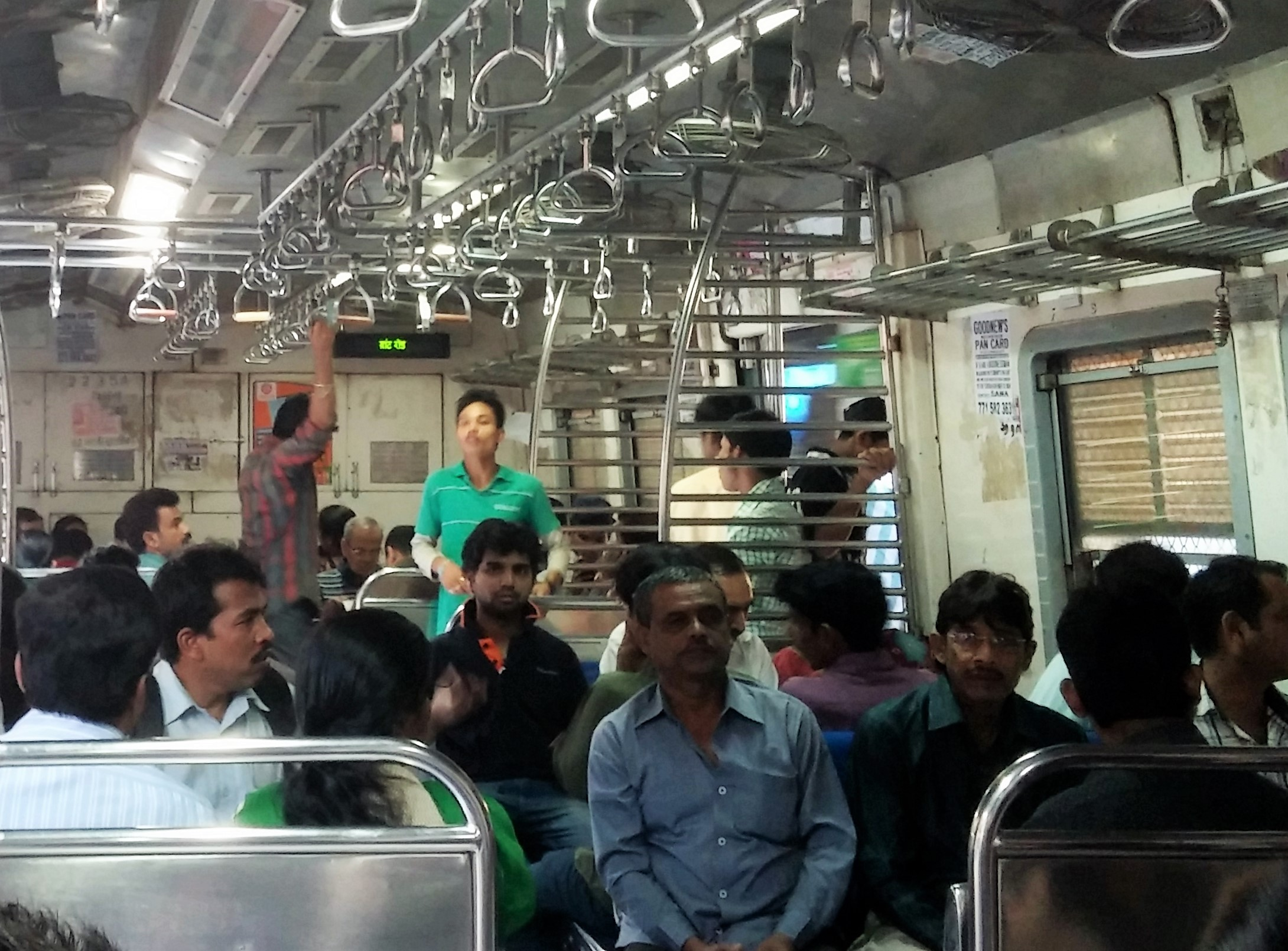 Mumbai train on a non-crowded day