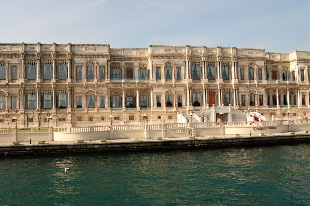 Çırağan Palace, a former Ottoman palace, is now a five-star hotel in the Kempinski Hotels chain. It is located on the European shore of the Bosporus, between Beşiktaş and Ortaköy in Istanbul, Turkey. You can stay in the Sultan's Suite for about US$35,000 per night