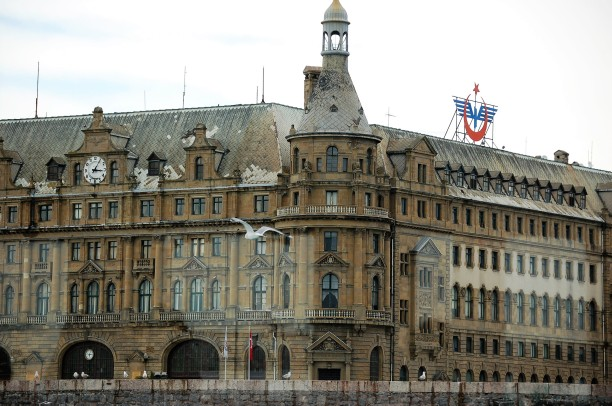 Haydarpaşa Railway Station. Until 2012 it was the busiest railway station in Turkey and the terminus of the Paris to Istanbul Orient Express.