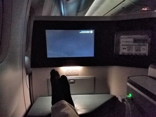 Korean Air Prestige Suites are big enough that your feet and lower body aren't jammed into a cubbyhole as with typical seats in business class777-300There is room for