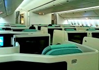 Korean Air 777-300 Prestige Class Cabin