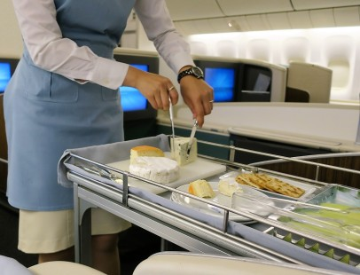 Passengers select the portion size and composition of dessert to match their tastes and appetite.
