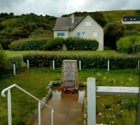 Site on Omaha Beach where the first WWII American cemetery in France was established on D-Day at Vierville-sur-Mer.