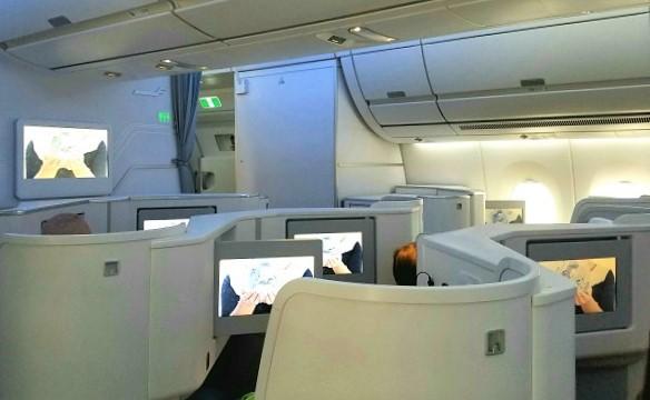 Finnair A350-900 aft business class cabin